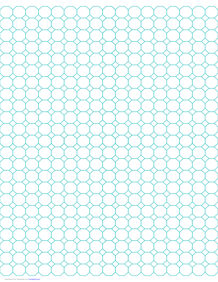 Octagon Graph Paper with 1/2-Inch Spacing on Letter-Sized Paper Free ...