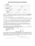 Professional Retainer for Purchase of Property Form