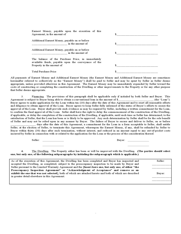 Purchase and Sales Agreement - Alabama