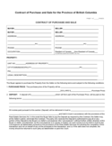 Contract of Purchase and Sale for the Province of British Columbia Free Download