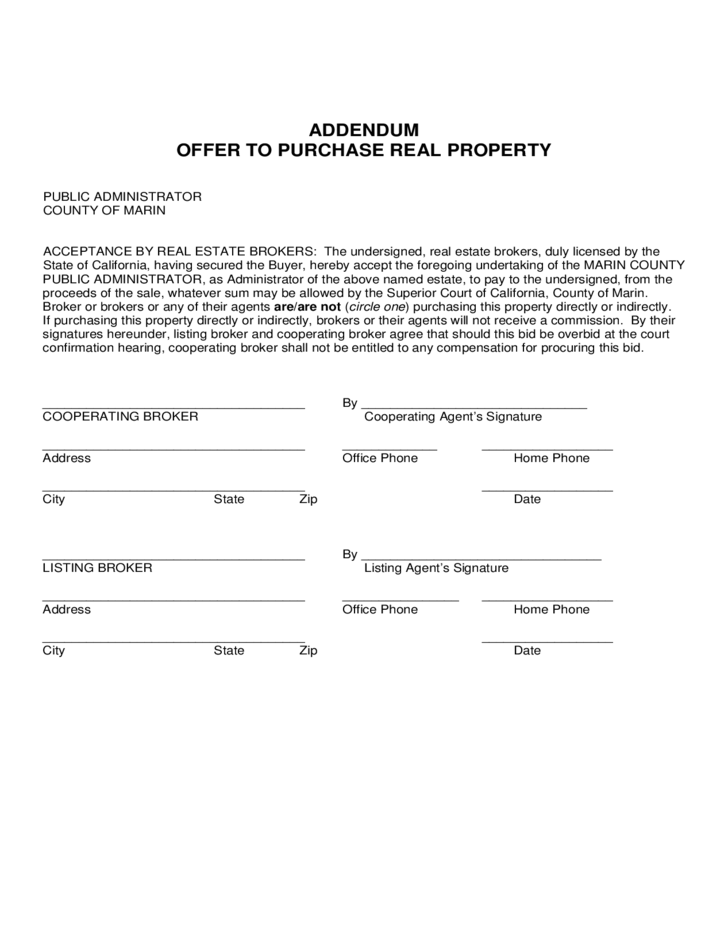 Doc728967 Offer to Purchase Real Estate Form The – Real Estate Purchase Agreement Template Free
