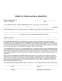 Offer to Purchase Real Property - California