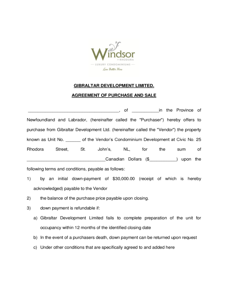 Offer to purchase real estate form 29 free templates in for Offer to purchase contract template