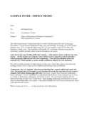 Sample Inter-office Memo Free Download