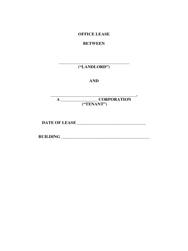 Office Rental and Lease Agreement Form