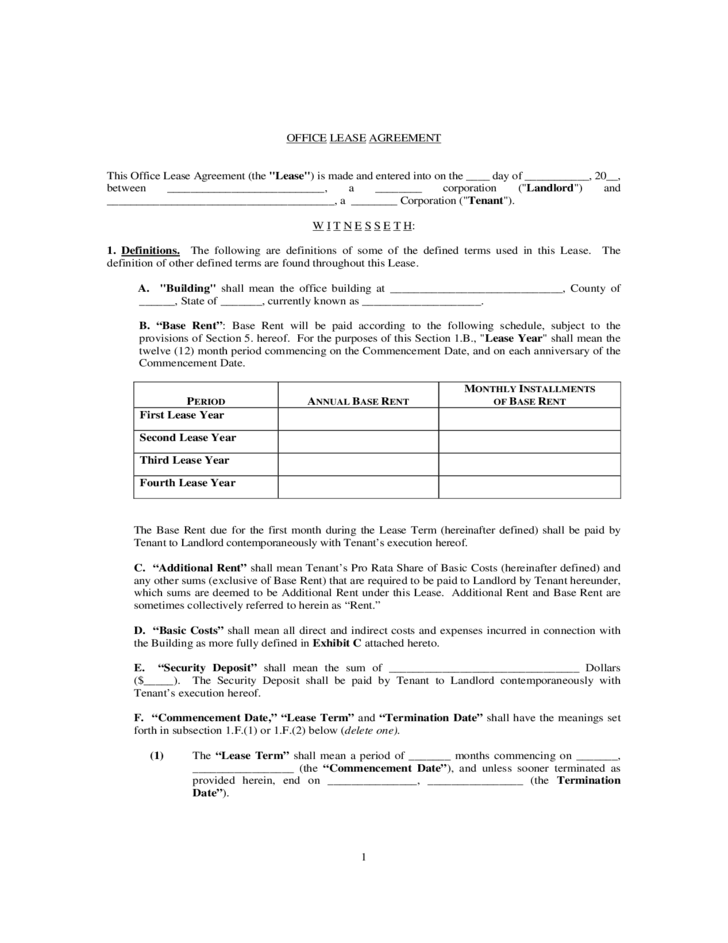 Official Lease Agreement Form Ichwobbledich