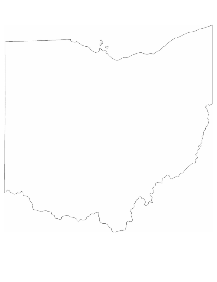 Ohio State Outline Map