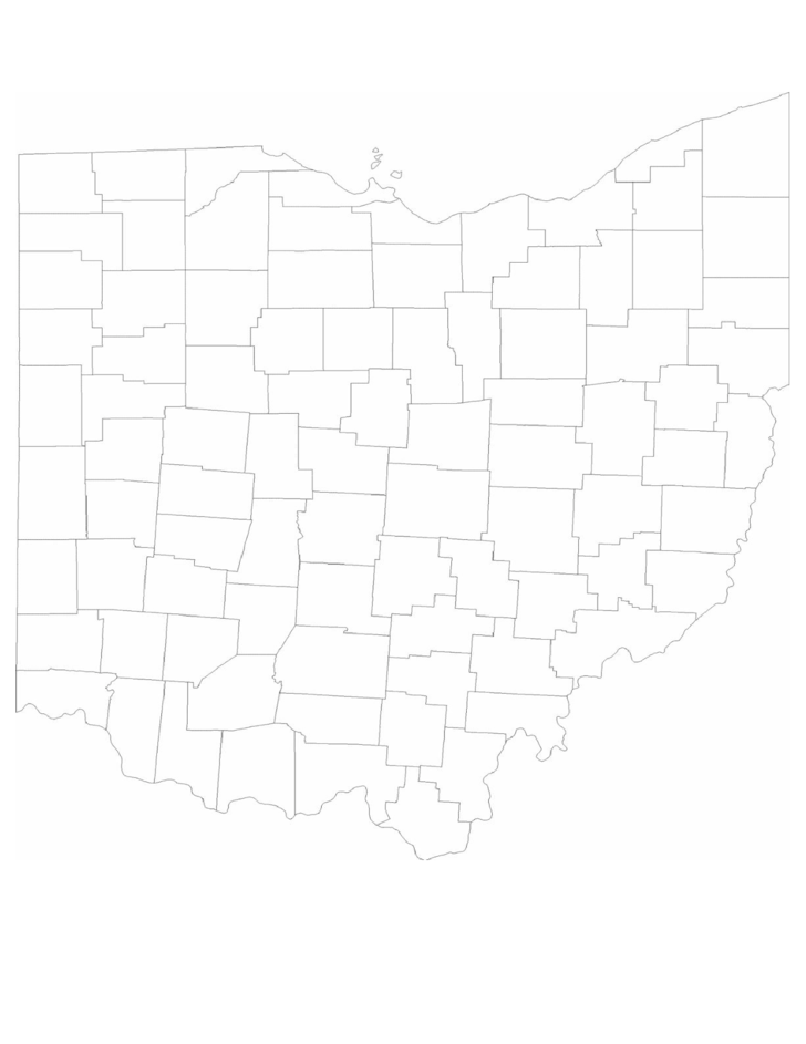 Blank Ohio County Map