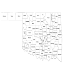 Oklahoma County Map with County Names Free Download