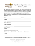 Open House Registration Form - Kansas Free Download