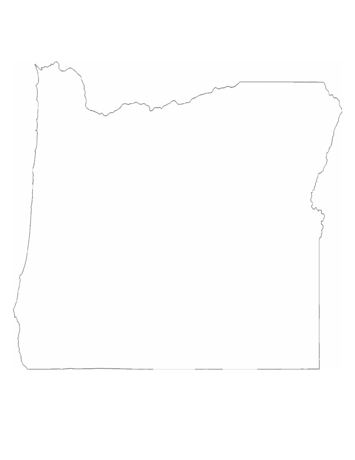 oregon state outline map free download