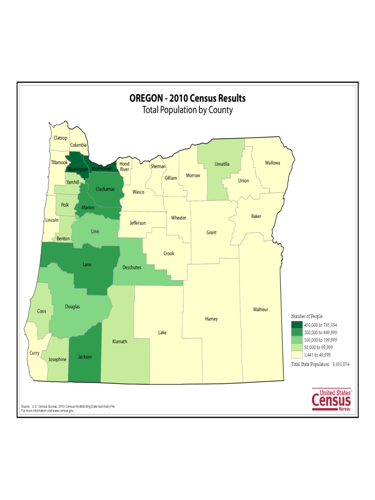 oregon map template
