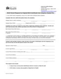 Birth Parent Request for Original Birth Certificate from Adoption Sealed File Free Download