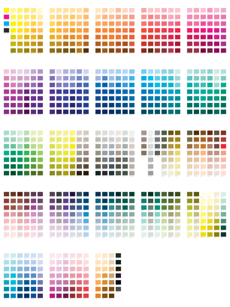 Pantone Color Chart Template - 5 Free Templates in PDF, Word ...