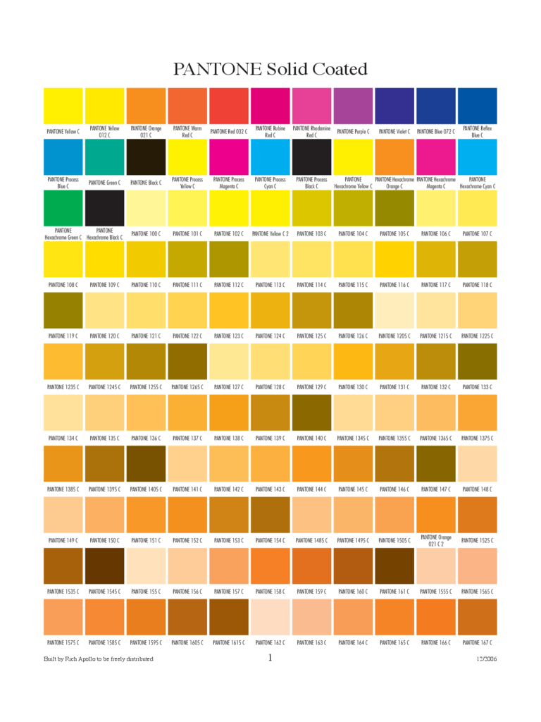 Color Chart Templates 53 Free Templates In Pdf Word
