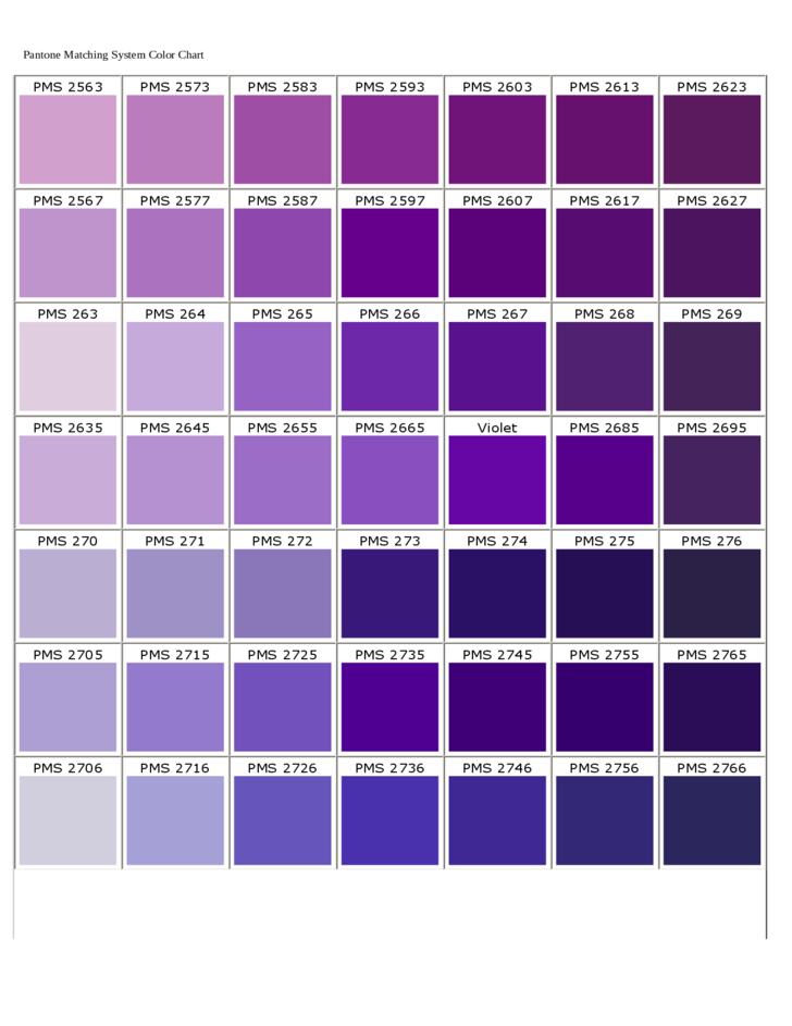 Pantone Matching System Color Chart Free Download