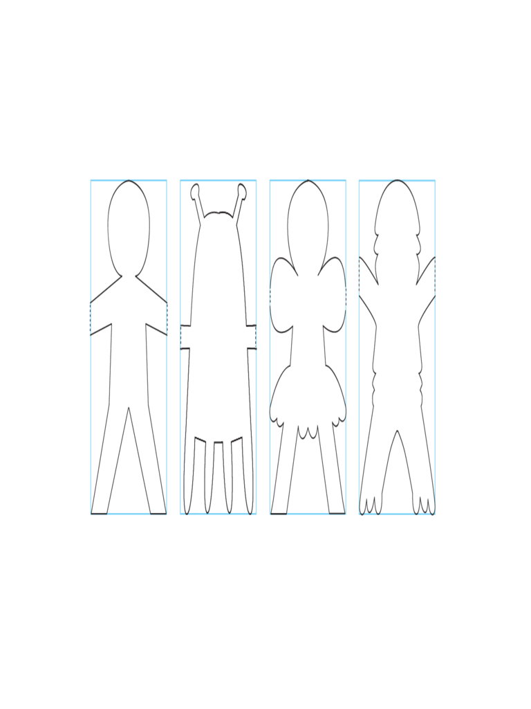 Sample of Paper Doll Template