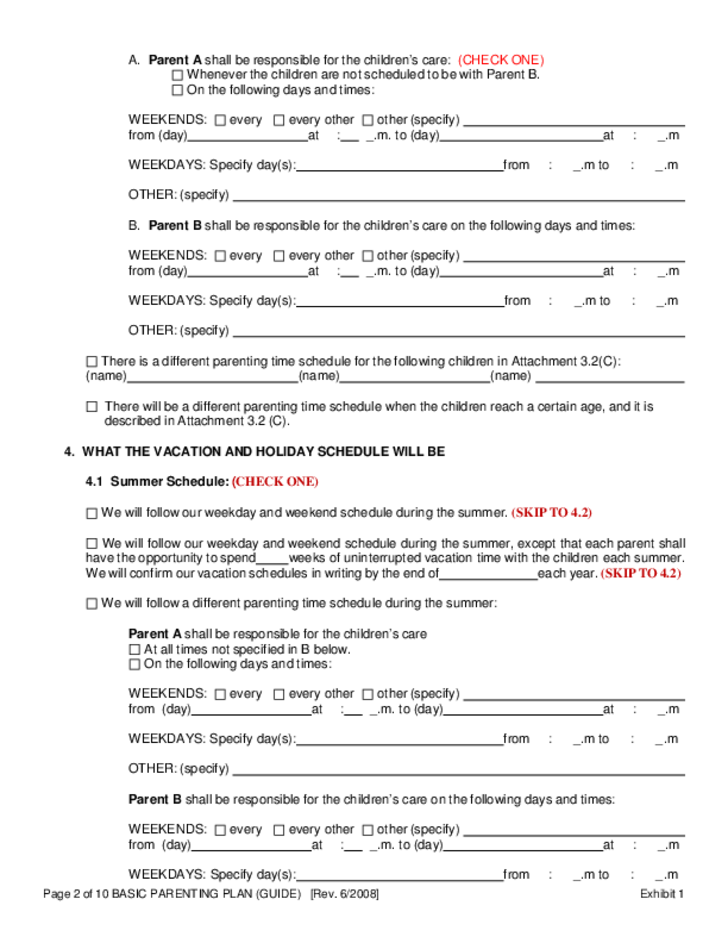parenting plan template download parenting plan template nsw – Parenting Plan Template