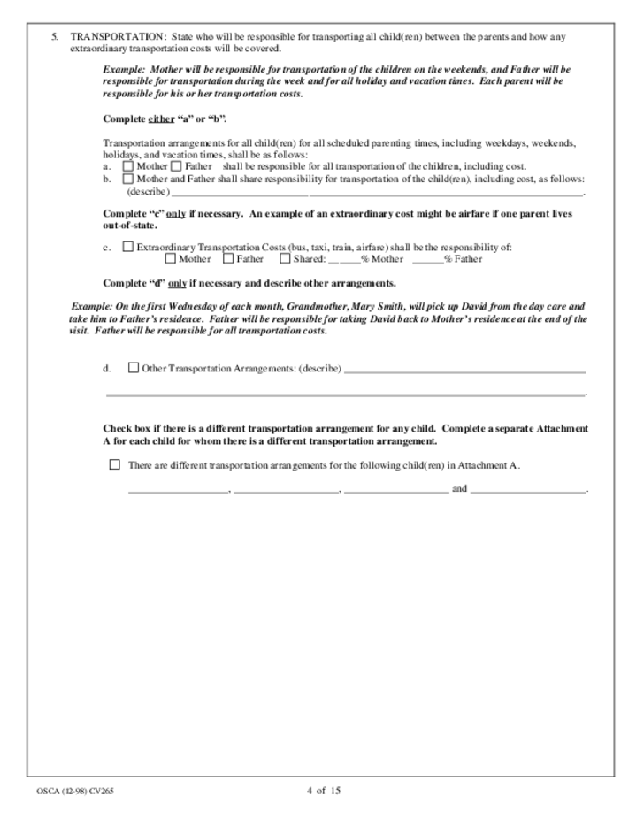 Parenting Plan and Guidelines - Missouri
