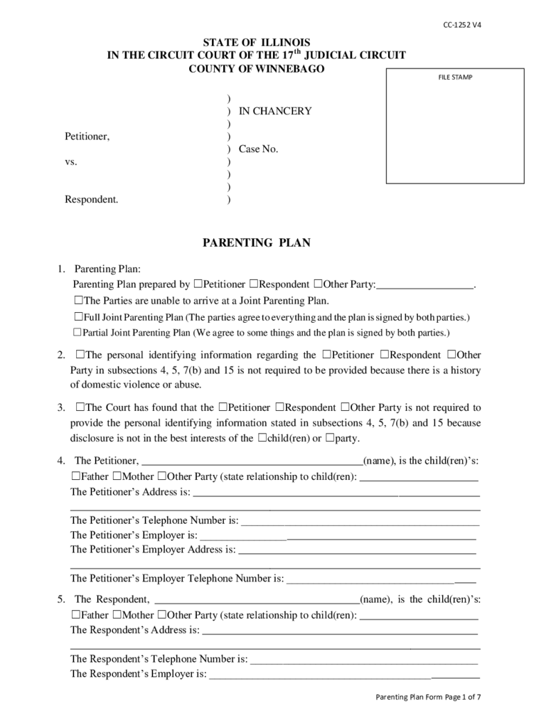 Illinois Divorce Forms - Free Templates in PDF, Word ...