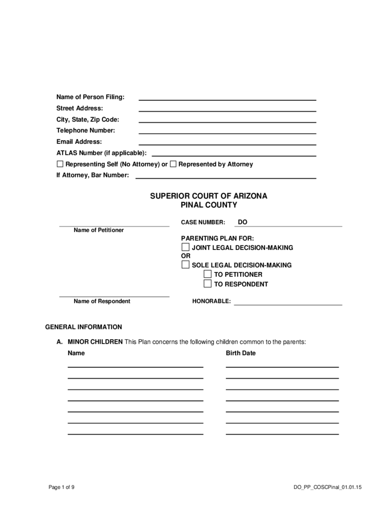 Parenting Plan Form 57 Free Templates In Pdf Word Excel Download
