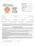 Sample Monthly Flat Lot Parking Agreement Free Download