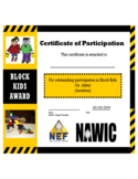 Modern Certificate of Participation Template Free Download