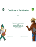 Blank Certificate of Participation Template Free Download