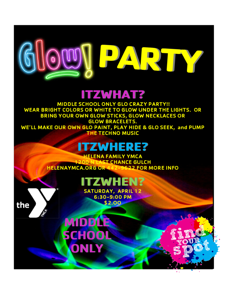 glow party flyer free download