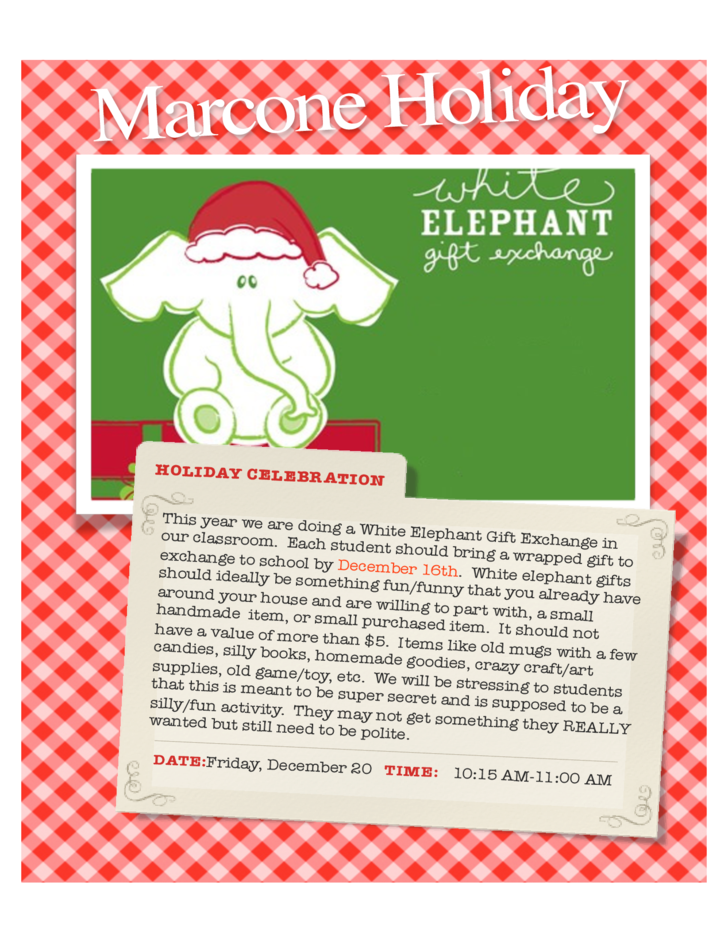 White Elephant Party Flyer Free Download
