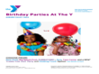 Sample Birthday Party Flyer