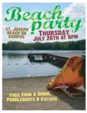 Beach Party Poster Free Download