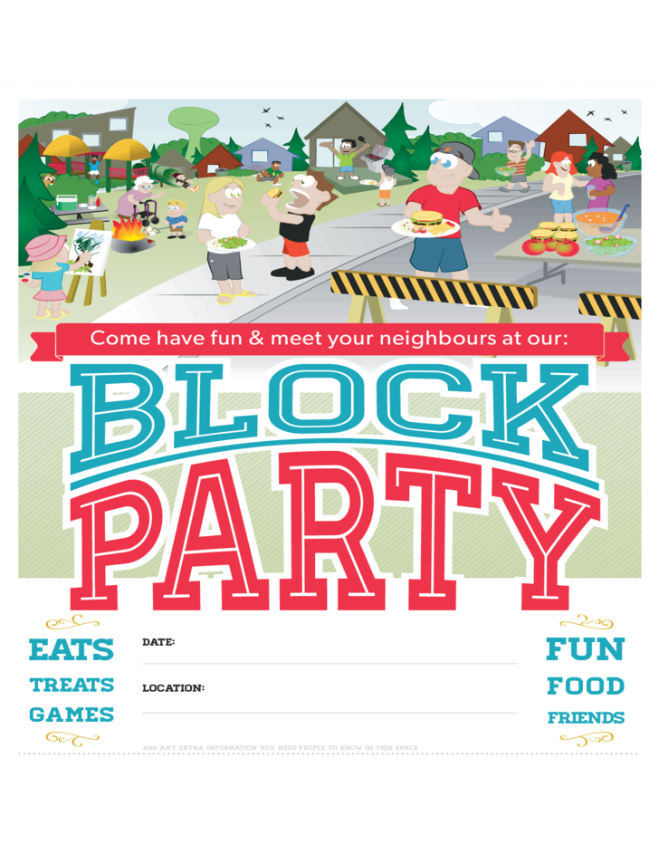 Block party poster free download for Block party template flyers free