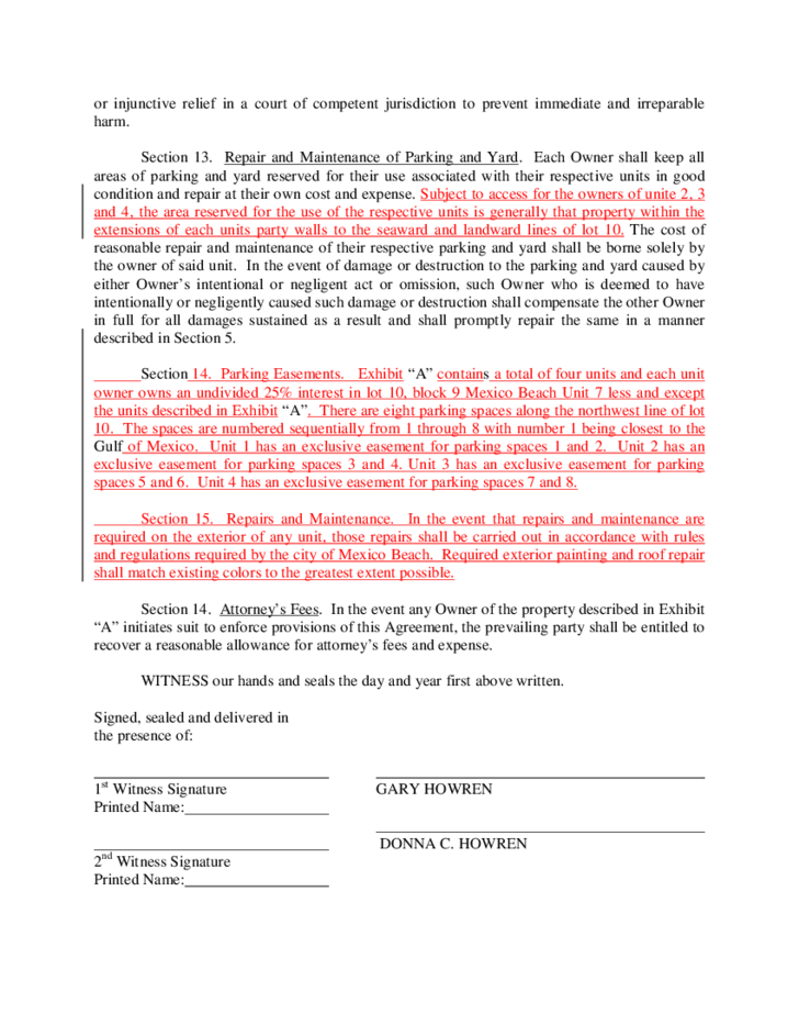 Wall agreement template 28 images wall agreement form for Party wall letter template