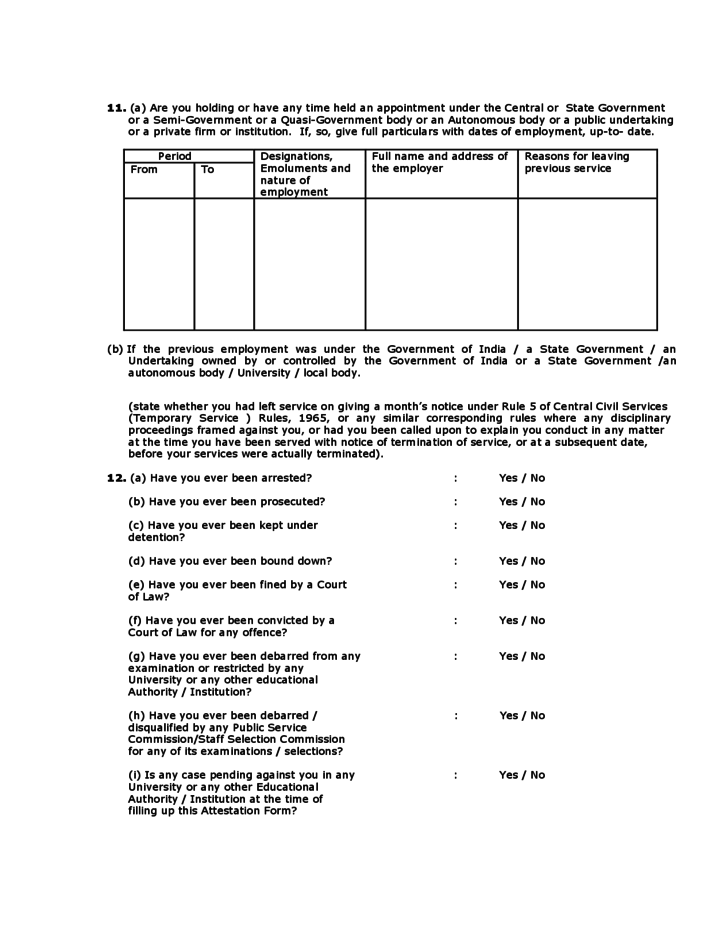 4 Attestation Form
