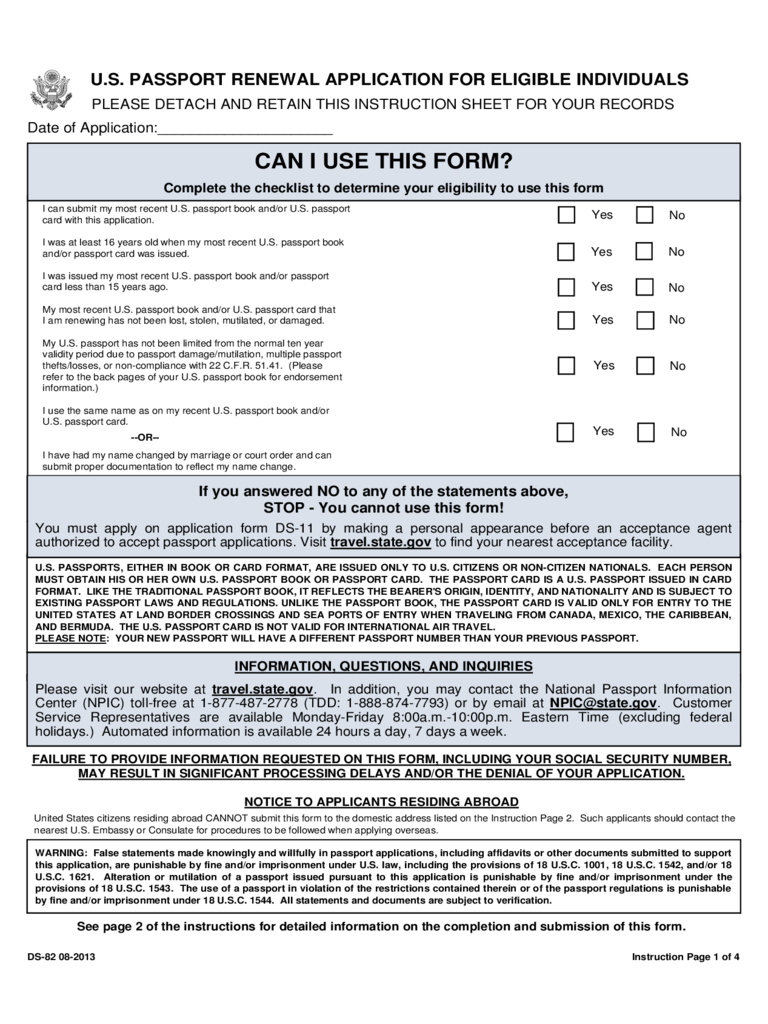 Passport renewal form 5 free templates in pdf word excel download us passport renewal application for eligible individuals falaconquin