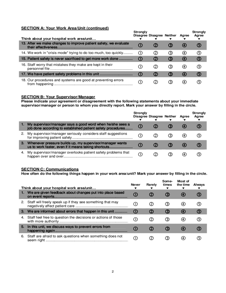 hospital survey on patient safety culture free download