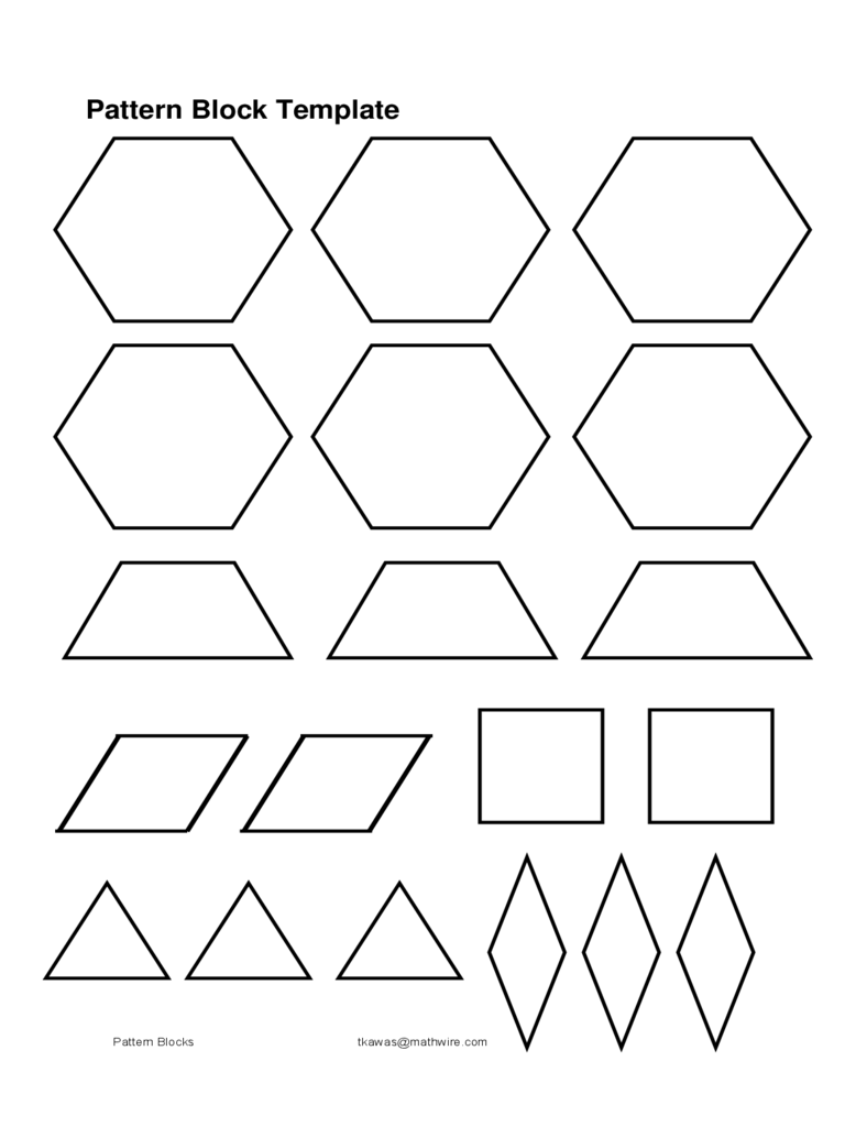 Pattern Block Templates 5 Free Templates In Pdf Word