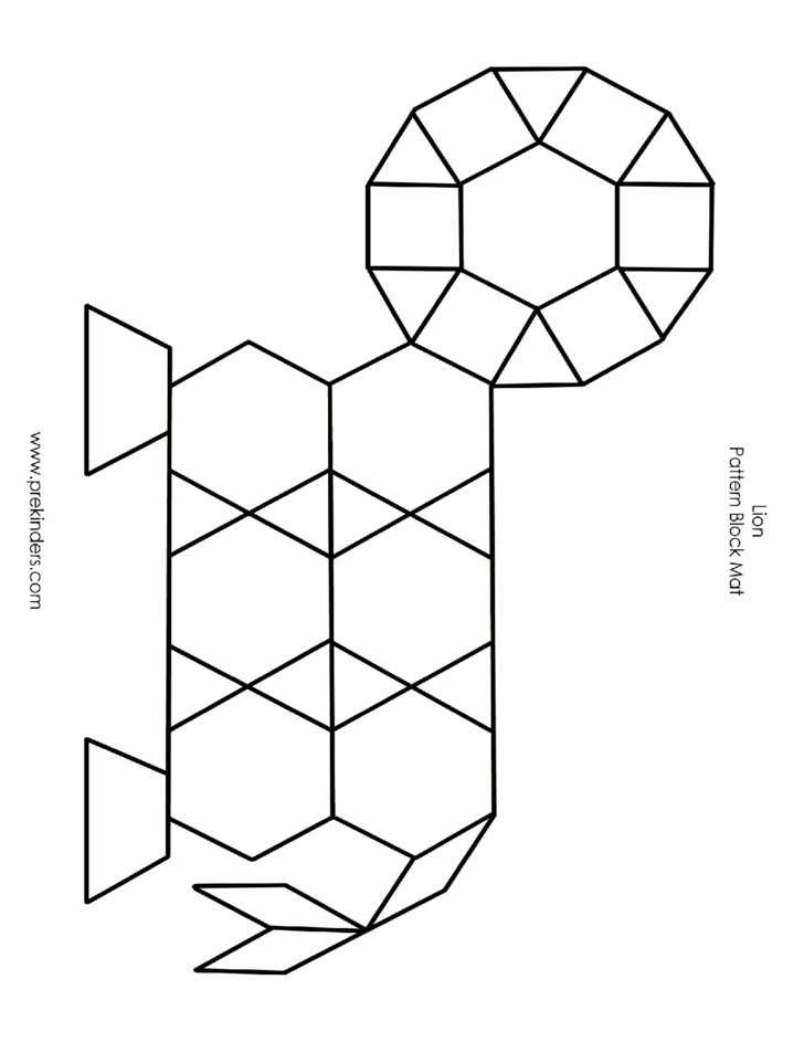 Pattern Block Mat Template Free Download