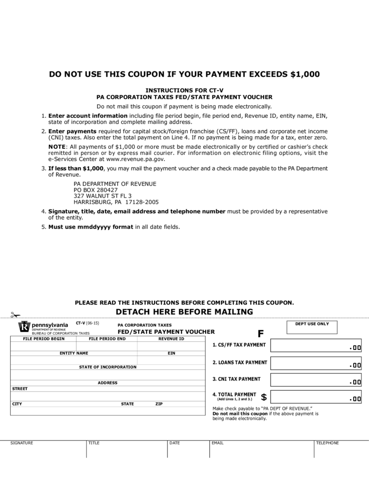 ct-v  state payment voucher free