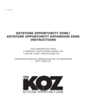RCT-132B/RCT-143KOZ - Keystone Opportunity Expansion Zone Instructions Free Download
