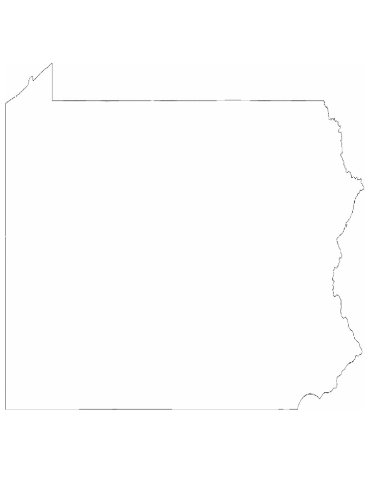 Pennsylvania State Outline Map Free Download