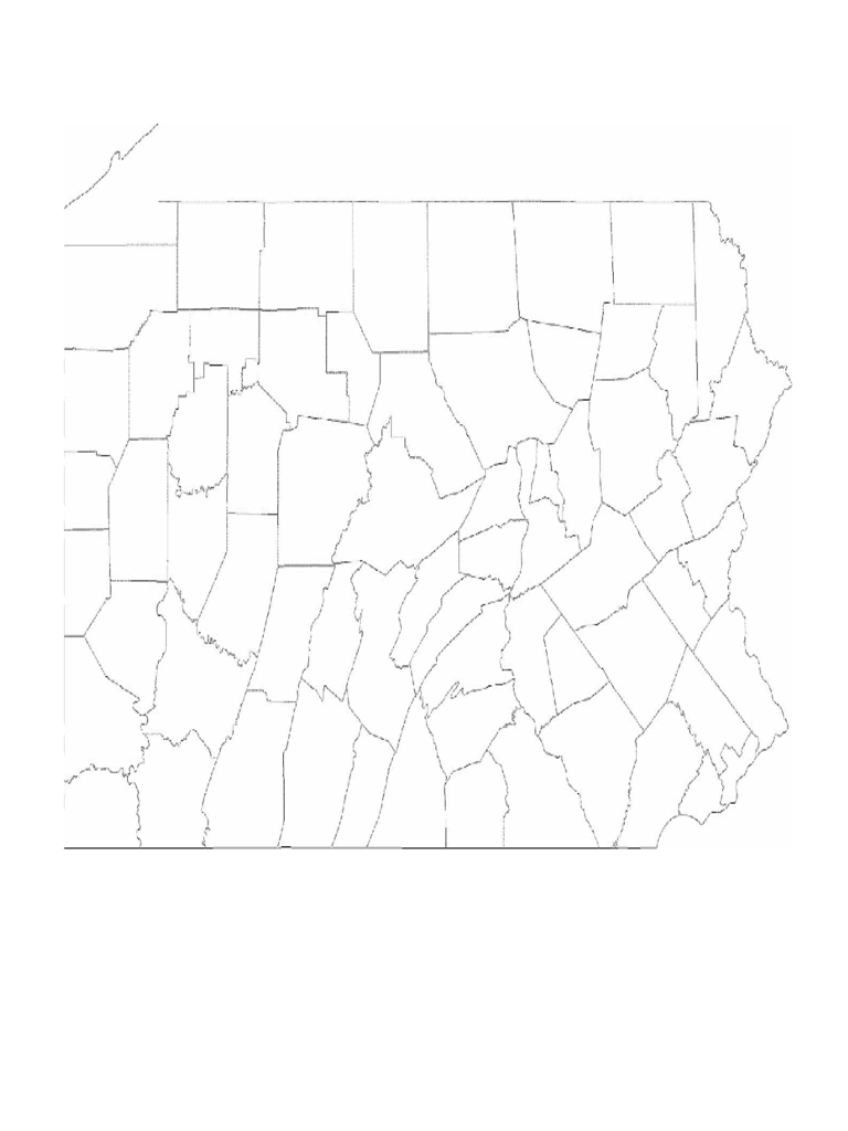 Blank Pennsylvania County Map