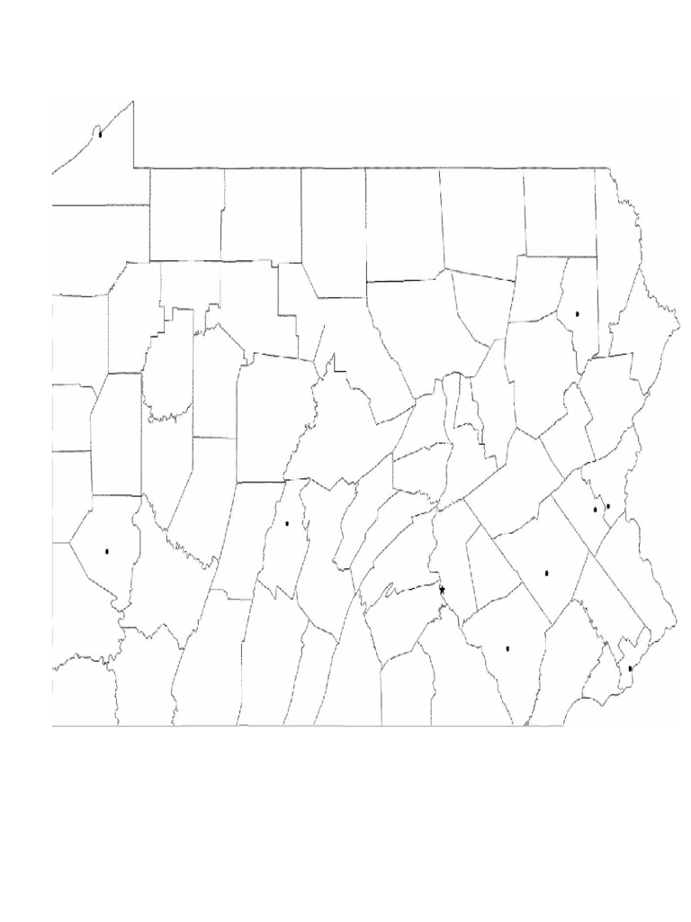 Blank Pennsylvania City Map