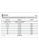 REV-1612 - Interest Rate and Calculation Method for Motor Carriers Road Tax/IFTA