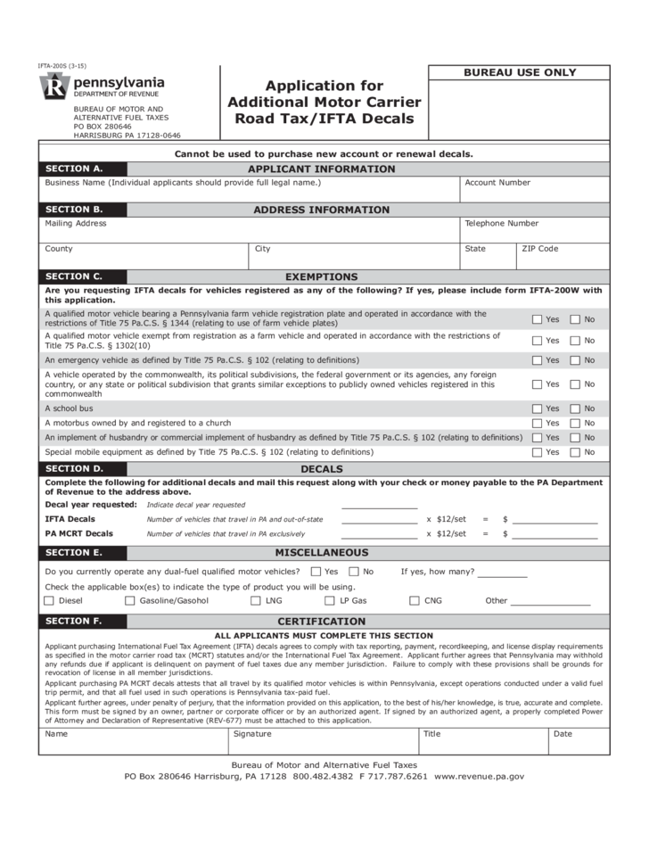 Ifta 200s application for additional motor carrier road for How to obtain a motor carrier number