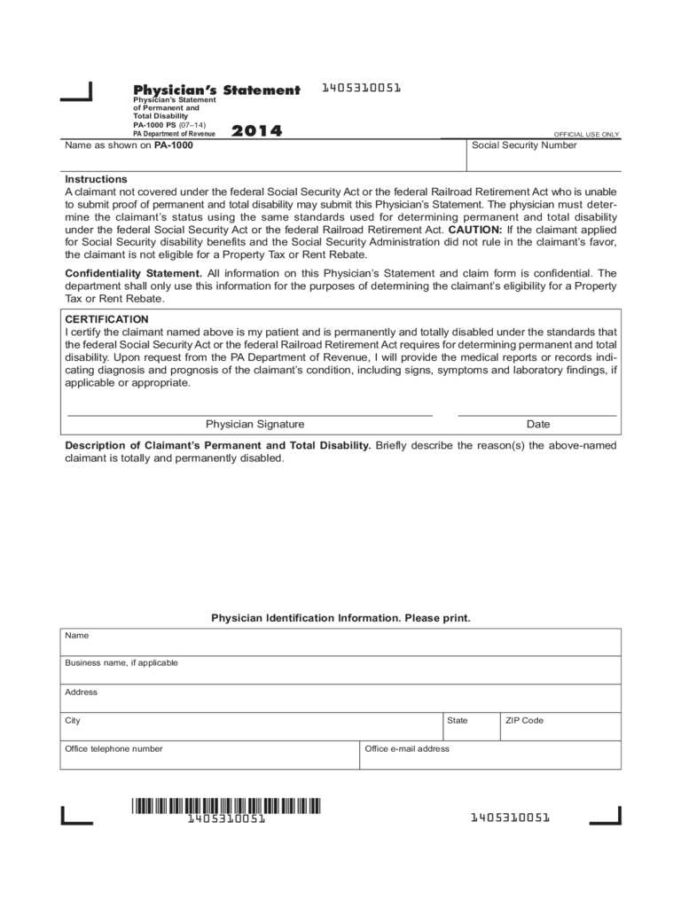 Pennsylvania Property Tax/Rent Rebate - 5 Free Templates in PDF ...