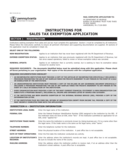 REV-72 - Application for Sales Tax Exemption