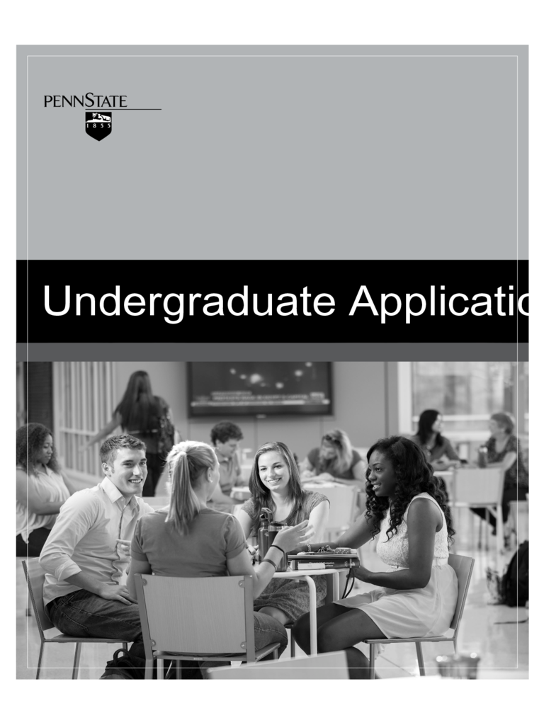 Pennsylvania State University Application Form - Pennsylvania State University