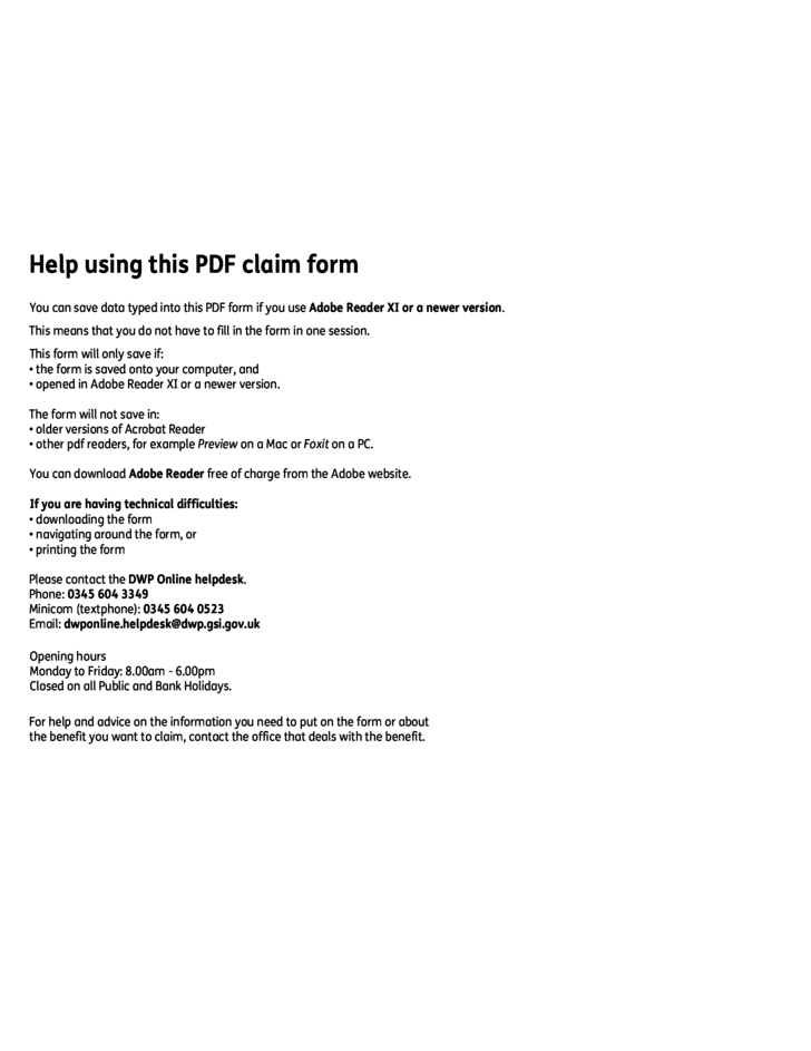 1 The Pension Service Claim Form   England